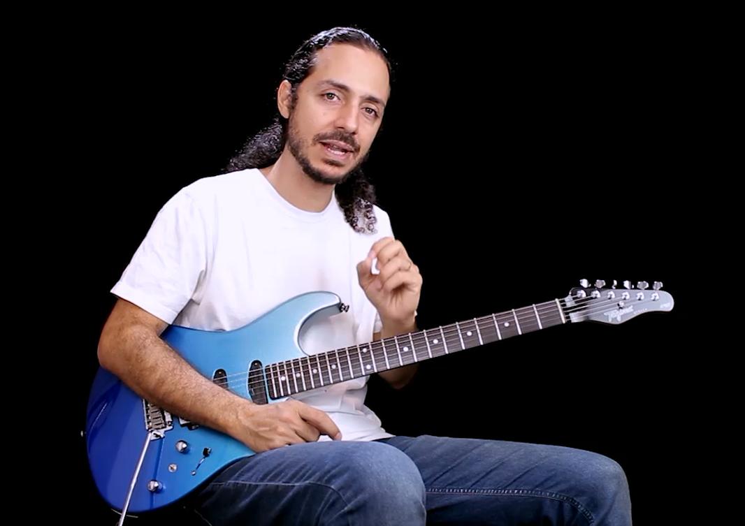 Notas no braço da guitarra - exercício