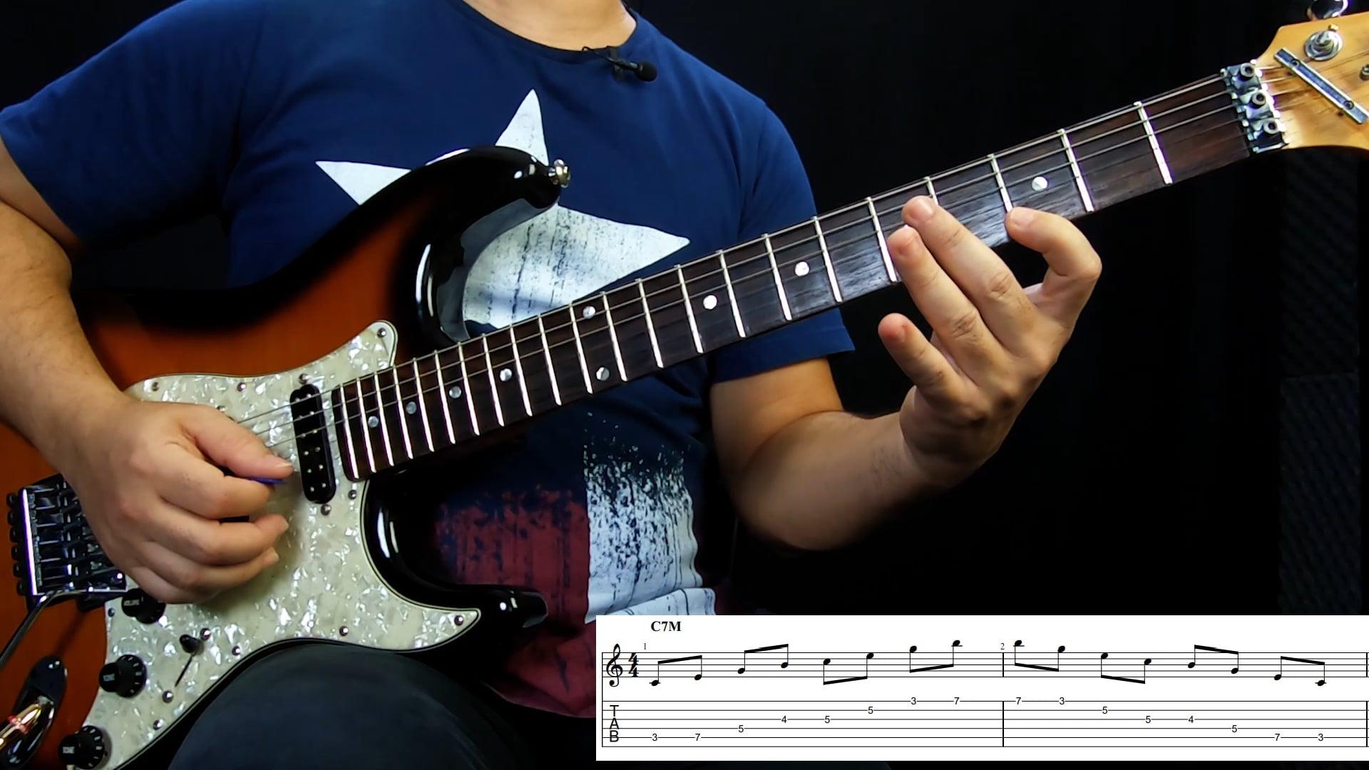Arpejos Tétrades - Campo harmônico maior C (5ª Corda)