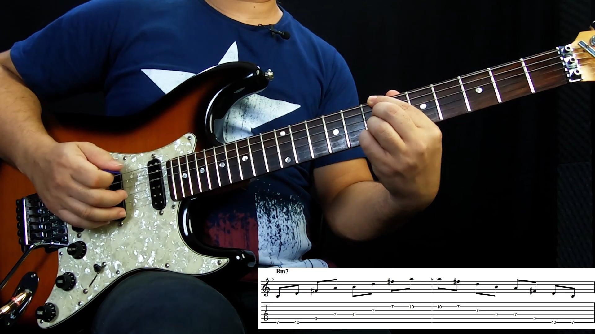 Arpejos Tétrades - Campo harmônico maior G (6ª Corda)