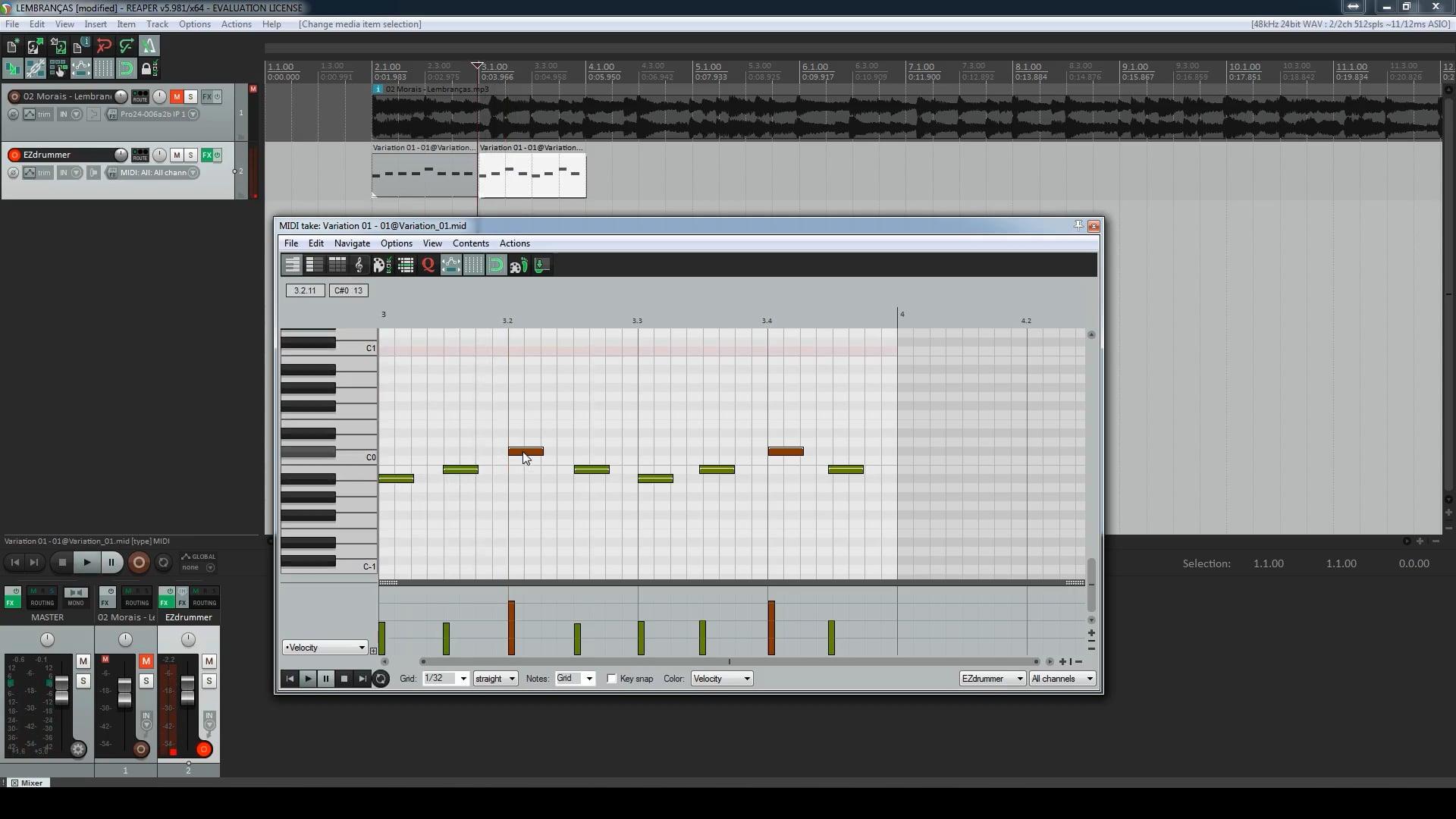 Primeiro Projeto - Percussão
