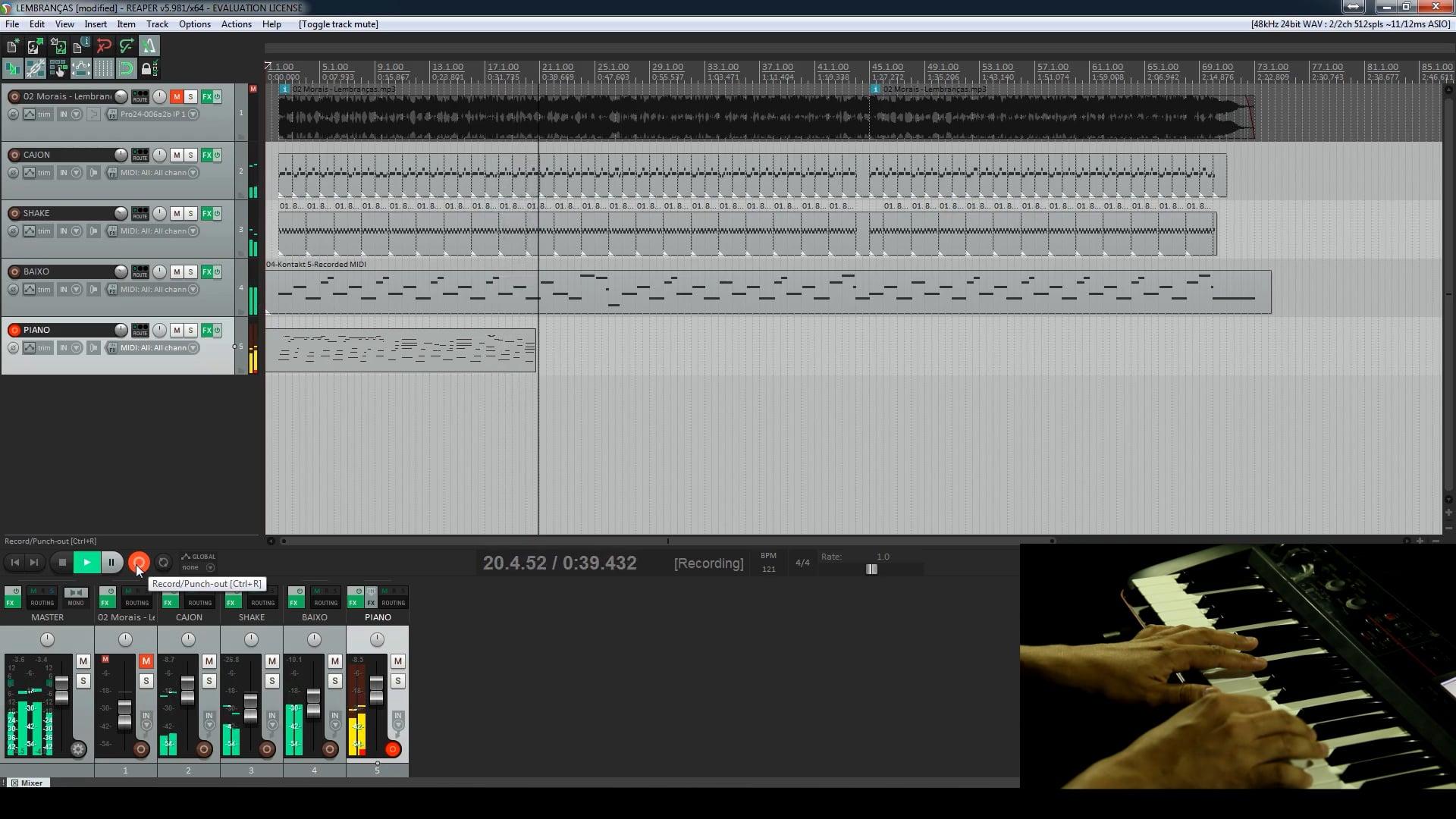 Primeiro Projeto - Gravando Baixo e Piano Virtual