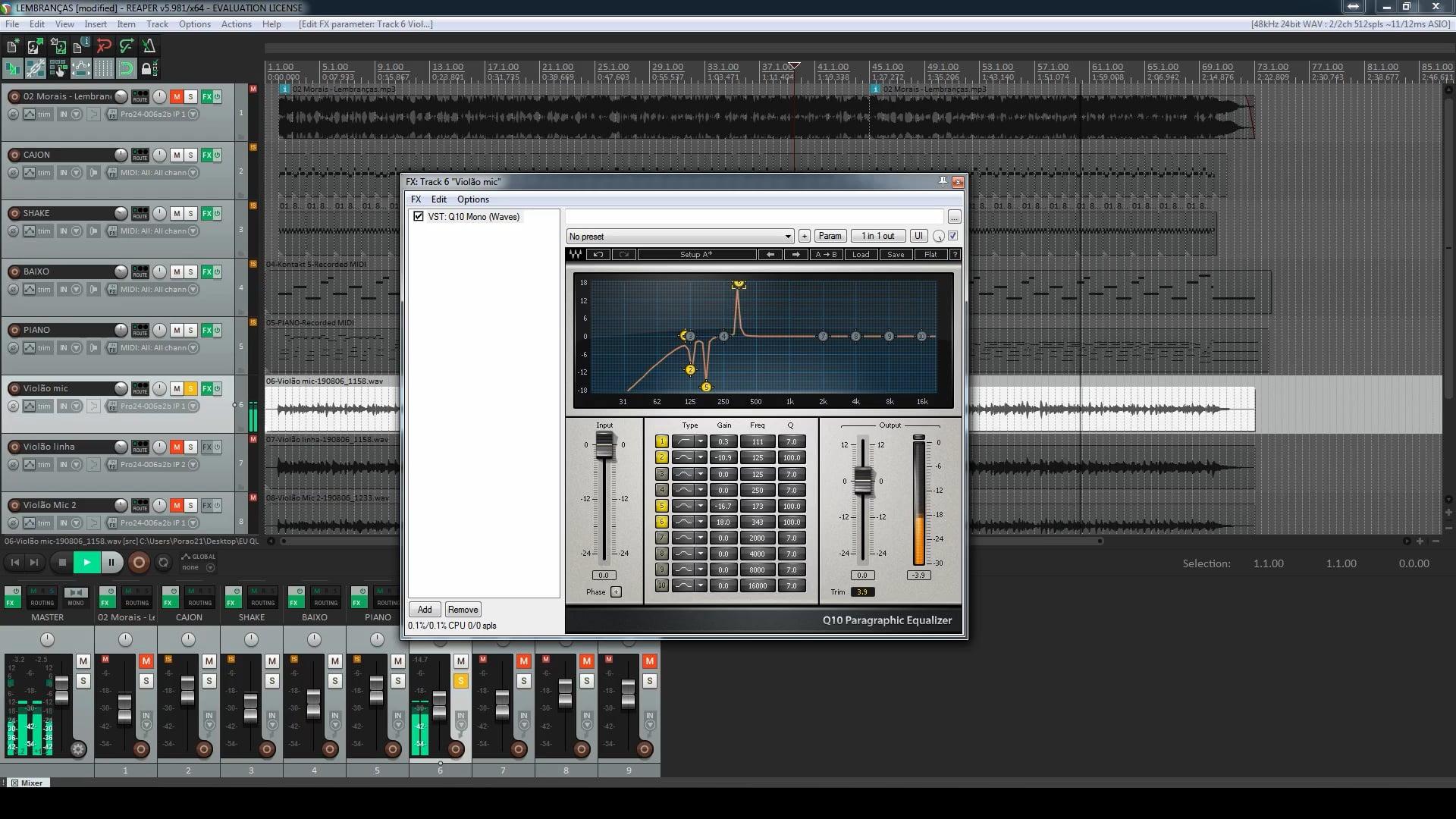 Primeiro Projeto - Mixagem do projeto - Parte 2