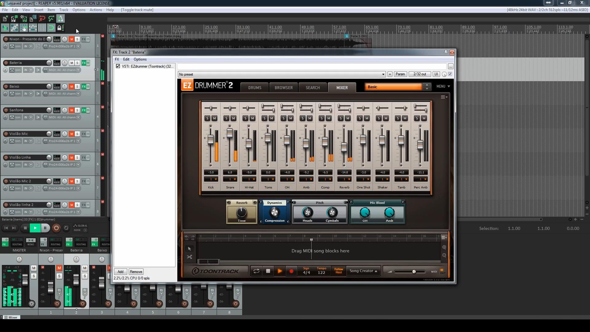 Segundo Projeto - Mixagem