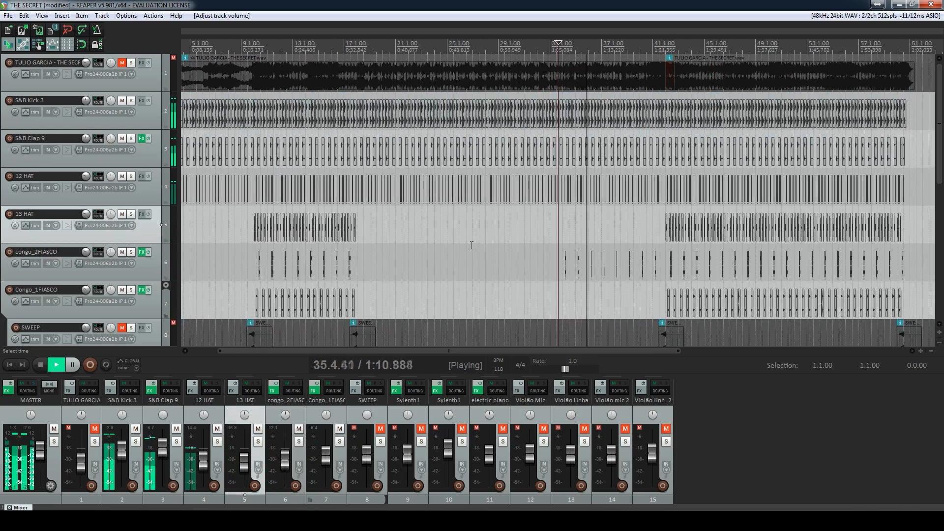 Terceiro Projeto - Mixagem
