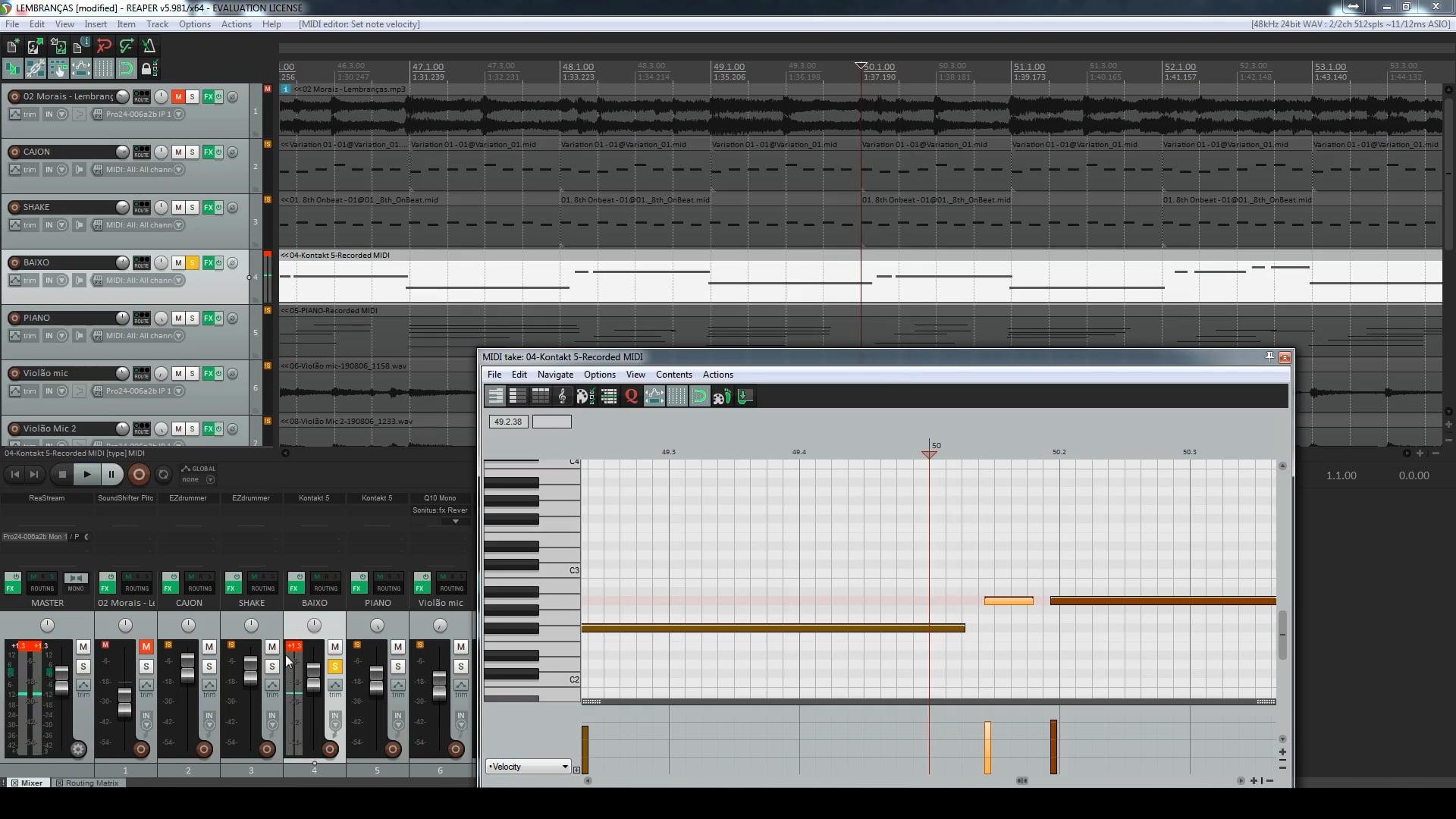 Projeto Aberto de Reprodução - Exportando Trilhas da música Lembranças