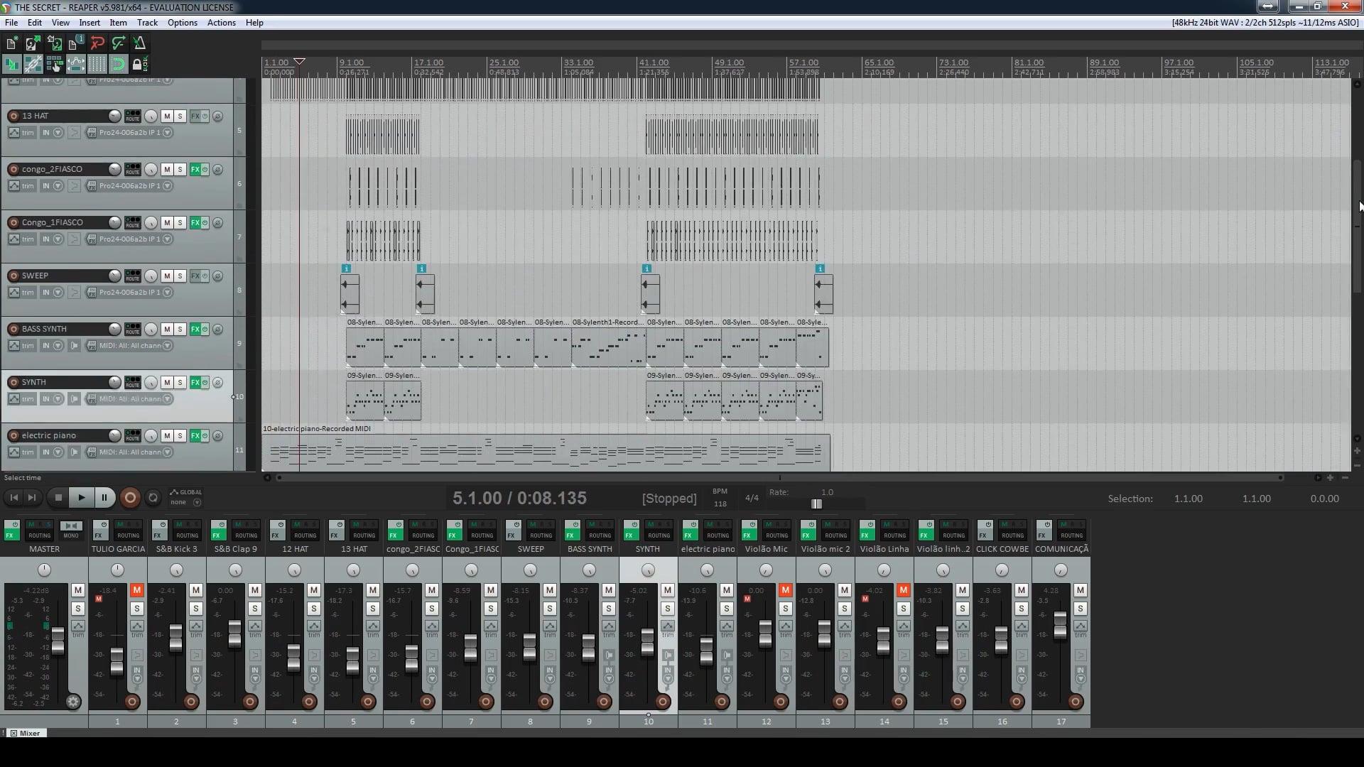 Projeto Aberto de Reprodução - Exportando Trilhas da música The Secret