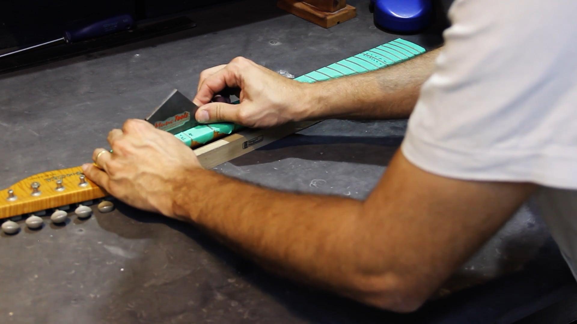 Manutenção para Guitarra Telecaster - Nivelamento de Trastes