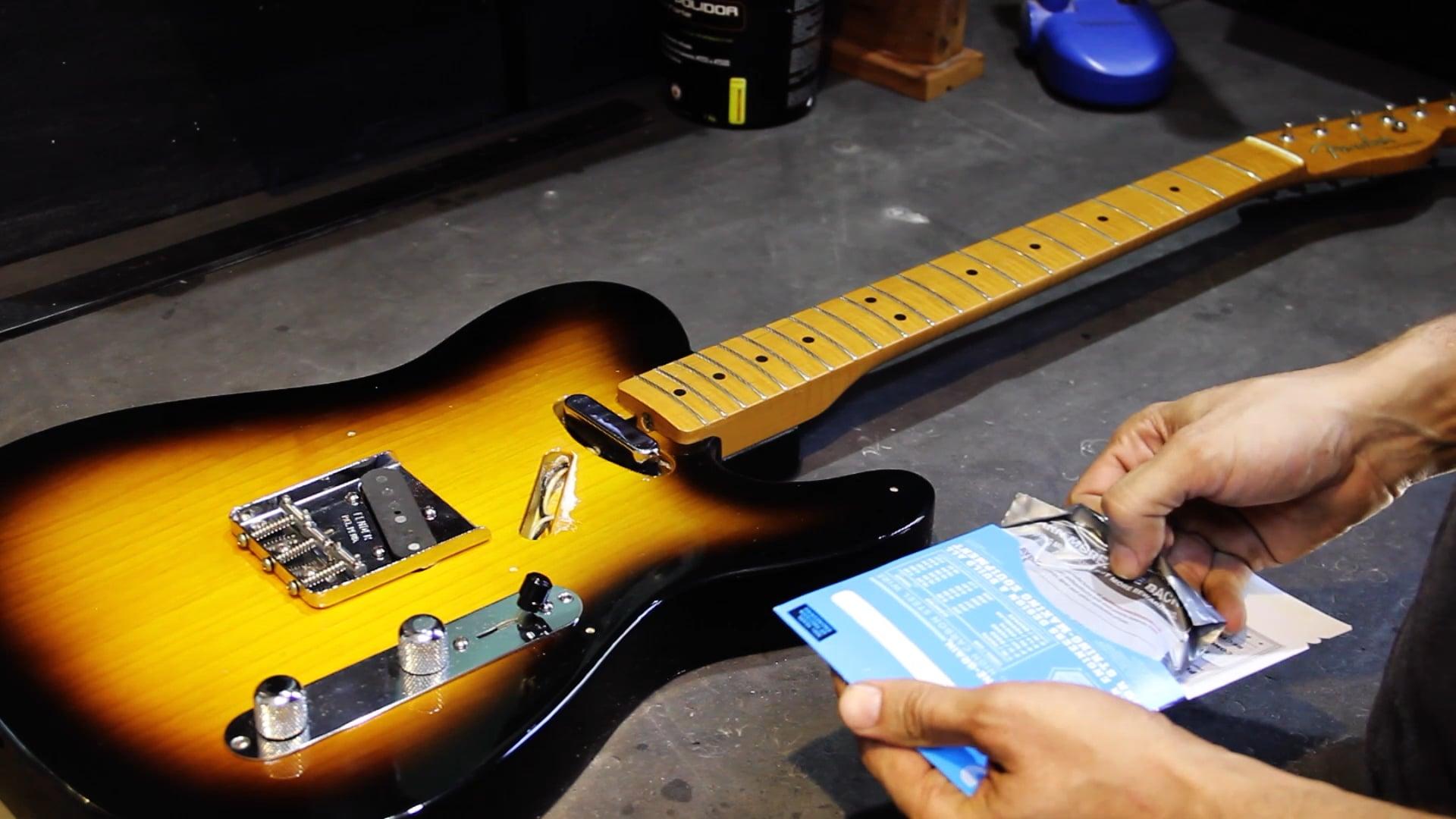 Manutenção para Guitarra Telecaster - Encordoamento