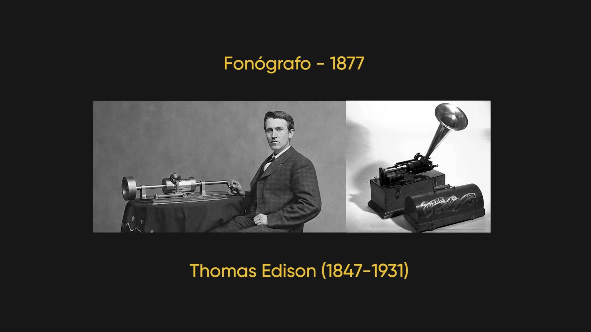 História da Gravação de Áudio